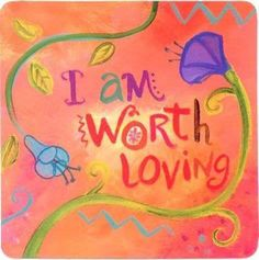 I am worth loving (Wisdom Cards/ Affirmations by Louise Hay) Affirmation Cards, Louise Hay Affirmations, Daily Affirmations, Self Esteem Affirmations, Healing Affirmations, Morning Affirmations, Mantra, Note To Self, Messages