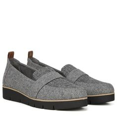 Dr. Scholl's Webster Medium/Wide Loafer Grey Flannel