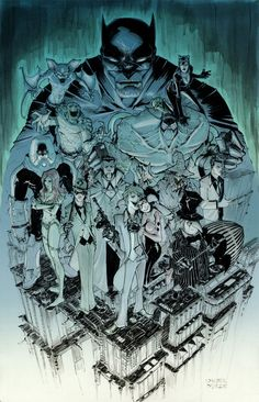 Batman Rogues Gallery by Walter Ostlie.