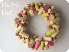wine cork wreath. this website has links to lots of DIY wreaths!