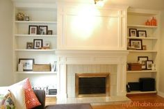 diy brick fireplace refacing, concrete masonry, concrete countertops, diy, fireplaces mantels, how to, living room ideas, Here is how I transformed my old brick fireplace into a traditional and custom statement piece LOVE IT