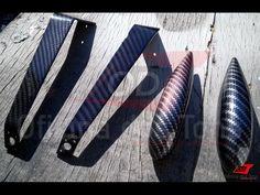 WTP 2 texturas de Fibra de Carbono em peças de aeromodelo feitas de fibra de vidro.