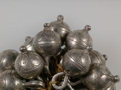 Buttons, cast silver, c. 1600.