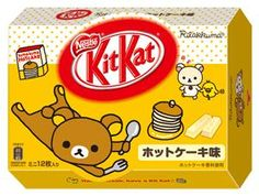 Hot Cake Flavored KitKat リラックマ Nestle KitKat[キットカット] [ミニ12枚入り×24個入] 《ホットケーキ味》 (Riraku-KitKat-HotCake*24)