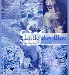 Модный цвет Pantone 2018 - Little Boy Blue. Коллаж от Зои Ти