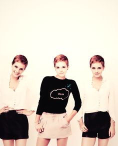 Emma Watson. Getting my hair cut like this in five minutes.