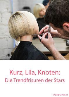 Kurzhaarschnitt oder doch lieber ein eleganter Knoten: So sehen die Trend-Frisuren der Stars aus.