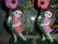 Figurines Accents Set of Ladybug Tulip by NAESBARGINBASEMENT, $14.00