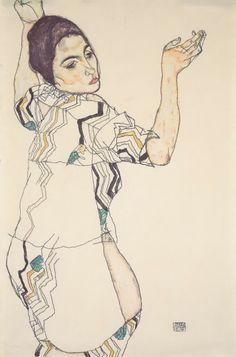 Con los dedos torcidos: Retratos de Egon Schiele