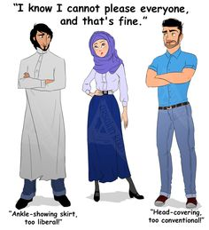 I know I cannot please everyone and that's fine by ArsalanKhanArtist on DeviantArt I Muslim, Anime Muslim, Arabic Funny, Arabic Memes, Pictures With Meaning, Sarcastic Jokes, Anime Dress, Pleasing Everyone, Witty Quotes