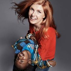Nashville and Friday Night Lights star Connie Britton with her adopted son Yoby from Ethiopia.