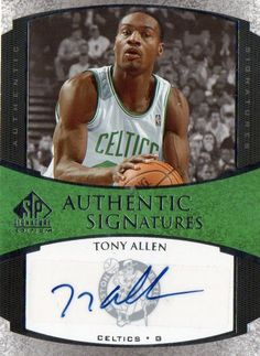 2005-06 SP Signature Edition Tony Allen Autograph Card Boston Celtics #BostonCeltics