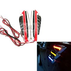 Universal Pair Car Vehicle LED Side Marker Lights Auto Flash Turn Signal 12V