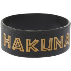 Disney The Lion King Hakuna Matata Rubber Bracelet | Hot Topic and other apparel, accessories and trends. Browse and shop 8 related looks.