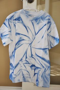 Spray Paint Tye Dye.  Easy and lasts!