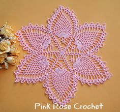 PINK ROSE CROCHET: Centrinho Abacaxis Pink Surprise