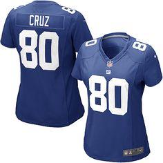 Nike Elite Women's New York Giants #80 Victor Cruz Team Color Blue NFL Jersey