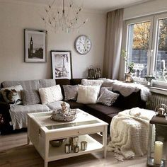15 brilliant farmhouse living room wall decor ideas 12 ~ Home And Garden Living Room Turquoise, Beige Living Rooms, Living Room Colors, Living Room Sofa, Home Living Room, Living Room Designs, Grey And Brown Living Room, Brown And Grey, Living Room Furniture