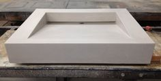 White Concrete Ramp Sink by stogsconcretedesign on Etsy
