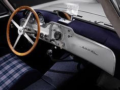 Mercedes-Benz 300SL Interior. Produced between 1952-1953 as solely a racing car then from 1954-1963 as a production car ( which at the time was the fastest production car of its day and also concidered by many as the first Super Car). 3,258 were built in total with 1400 as a Coupé and 1858 as a Roadster.
