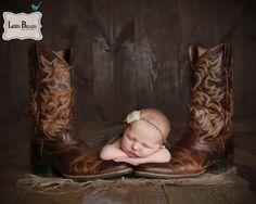 Newborn and cowboy boots Libby Brady Photography Newborn
