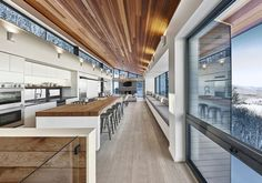 """curtis designed this modern ski chalet located in Lac Archambault, Quebec, Canada. It was completed in February """"This modern ski chalet was designed as a weeke… Ski Chalet, Alpine Chalet, Chalet Quebec, Chalet Design, House Design, Chalet Interior, Interior Design, Residential Architecture, Interior Architecture"""