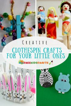 Are you ready to be amazed with what you can do with a boring laundry necessity? Check out these 36 Creative Clothespin Crafts for Your Little Ones to engage your child's imagination and their minds for hours on end. Animal Crafts For Kids, Spring Crafts For Kids, Crafts For Kids To Make, Unicorn Crafts, Bunny Crafts, Easter Crafts, Easy Arts And Crafts, Quick Crafts, Preschool Crafts