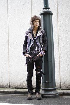 furry hats = hardest core. #tokyo #shibuya #streetstyle