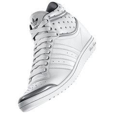 Tênis Adidas Women's Top Ten Hi Sleek Up Shoes Running White D65224 #Tenis #Adidas