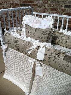 Custom Neutral Baby bedding
