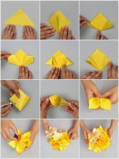 Veja como fazer origami floral | Artesanato na Prática