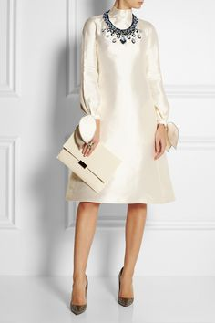 Vika Gazinskaya   Embroidered woven silk dress   NET-A-PORTER.COM