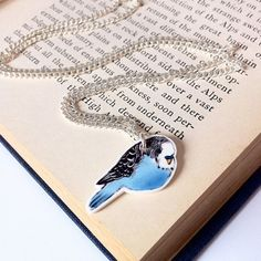 Budgie Necklace by laylaamber on Etsy, £9.00