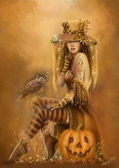 "Martina Arend © ""waiting for halloween"" Halloween Pin Up, Holidays Halloween, Vintage Halloween, Happy Halloween, Halloween Snacks, Halloween Pictures, Halloween Town, Halloween Pumpkins, Halloween Illustration"