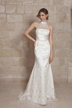 straight silhouette wedding dress from Dalin Brand