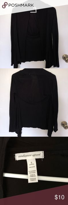 Basic Black Cardigan Perfect light cover-up to complete any outfit. Barely worn in excellent condition. From Forever 21. Brandy Melville Sweaters Cardigans