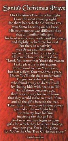 Santas  prayer