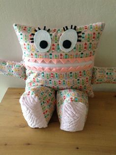 LAST DAY OF SALE: 50% OFF Ready To Ship Items now through July 6th with Coupon Code 'HALFOFF'!!! Pink Houses Pajama Eater Pillow by Jaimesews on Etsy, $30.00