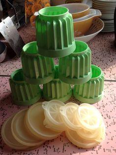 SALE Set of 6 Vintage Green Tupperware Jello door blinkyoullmissit