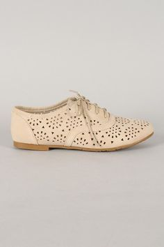 aa02ce011fce57 Galen-03 Perforated Lace Up Oxford Flat