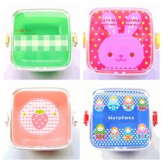 Mini Bento Box / Lunch Box http://www.from-japan-with-love.com/one-layer-bento-boxes.html #shopping #bento #lunch #Japan #cute