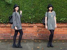 #asos #hm #primark #missselfridge #cute #casual #glam #pastel #pastels #aw14 #lookbooker #wiwt #ootd #ootdmagazine #fashionbloggers #fbloggers #preppy #monochrome  Visit my blog: http://fashioneatstar.blogspot.co.uk/2014/10/ootd-check-it-out.html