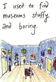 I used to find museums stuffy and boring.  Caroline's Crayons 2