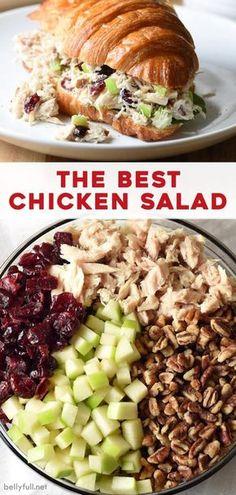Tasty Meal, Chicken Salad Recipes, Salad Chicken, Chicken Salad Recipe With Pecans, Chicken Salad Sandwiches, Chicken Salad Healthy, Best Salad Recipes, Apple Chicken Salads, Cranberry Chicken Salad Sandwich Recipe