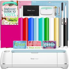 Cricut Blue Maker Vinyl Bundle With 26 Sheets Of Vinyl And Home Swing, Cricut Access, Weeding Tools, Swing Design, Siser Easyweed, Transfer Tape, Cricut Vinyl, Adhesive Vinyl, Cricut Design