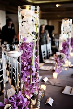 Atlanta Wedding From Three Ring Media Ellyb Events Milanes Photography Plum Centerpiecespurple