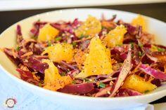 Ensalada de col lombarda y naranja