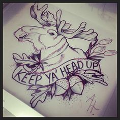 apriloneal: I'm bad with letters!!! ✏️✒️ #sketch #draw #paint #art #moose #neotradsub #neotraditional #keepyaheadup #tattoo #tattooidea #ladyartists #acorn #cute #love #aprilhdezart