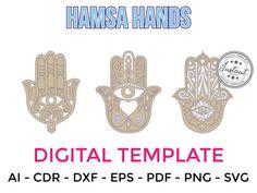 HAMSA HANDS for LASERCUT cut files clipart Silhouette Dxf Eps | Etsy Laser Cut Files, Hamsa Hand, Craft Items, Filing, Vector File, Clipart, Handmade Crafts, Laser Cutting, Cutting Files
