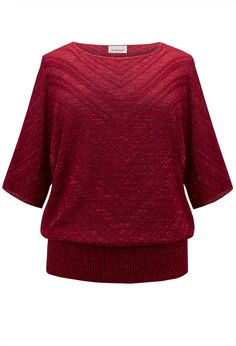 Chevron Shimmer Sweater-Plus Size Chevron Sweater-Avenue
